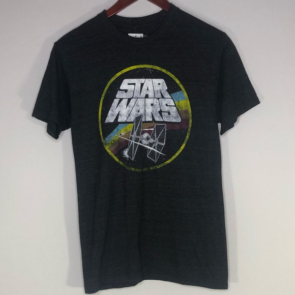 Star Wars Men's Retro Shirt Small Gray Graphic